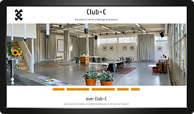 Webdesign Club-C homepage