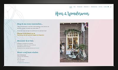 Webdesign Haar en Wonderwaar homepage