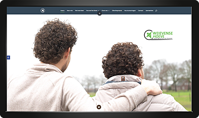 Webdesign Weievensehoeve homepage