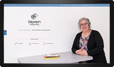 Webdesign Marein Organizing homepage
